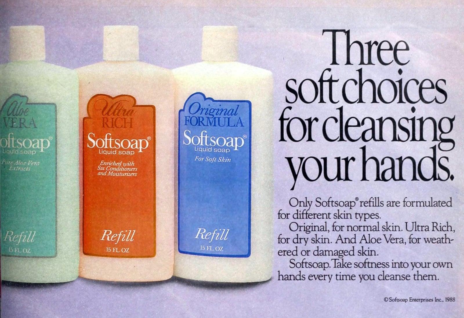 Softsoap refills (1988)