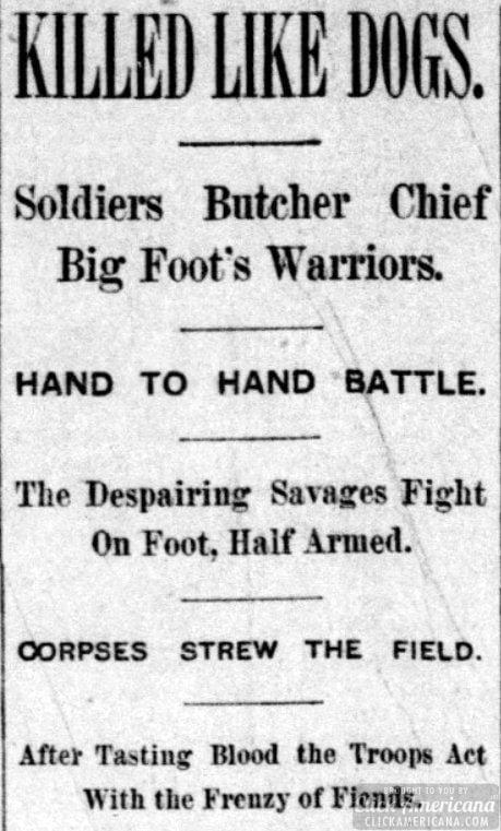 Soldiers Butcher Chief Big Foot's Warriors