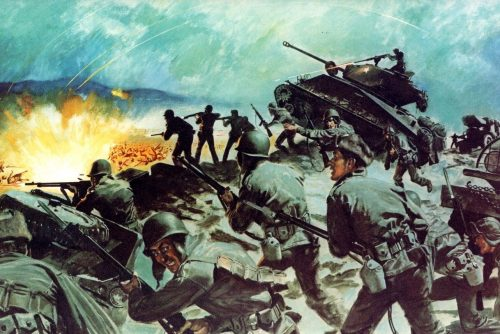 Soldiers engage in heavy fighting outside Seoul, South Korea, in March 1951