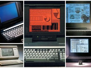 Some of the first laptop computers Clunky slow expensive tech