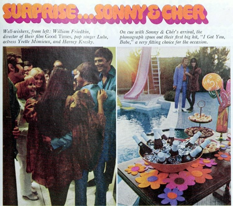 Sonny and Cher 3rd anniversary party - 1967 (2)