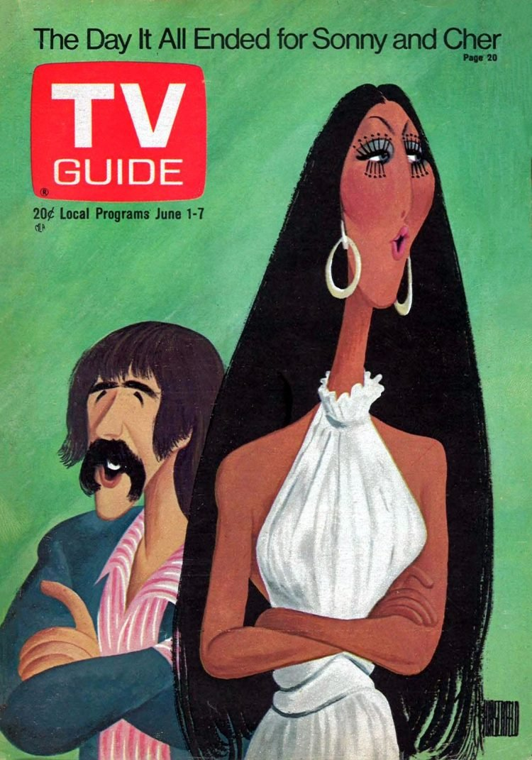 Sonny and Cher TV Guide 1974