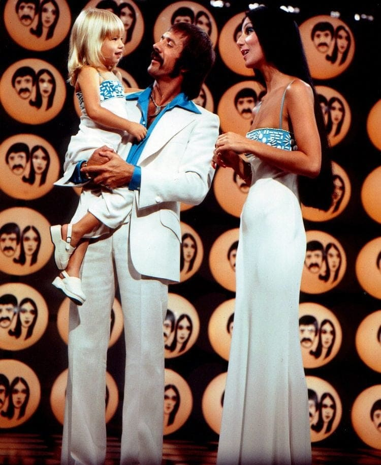 Sonny and Cher with child Chastity - Chaz Bono - 1974