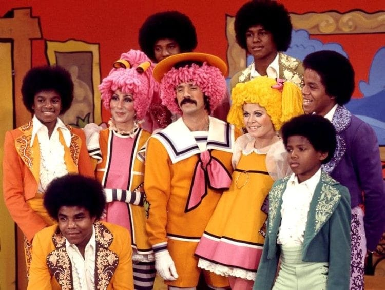 Sonny and Cher with the Jacksons