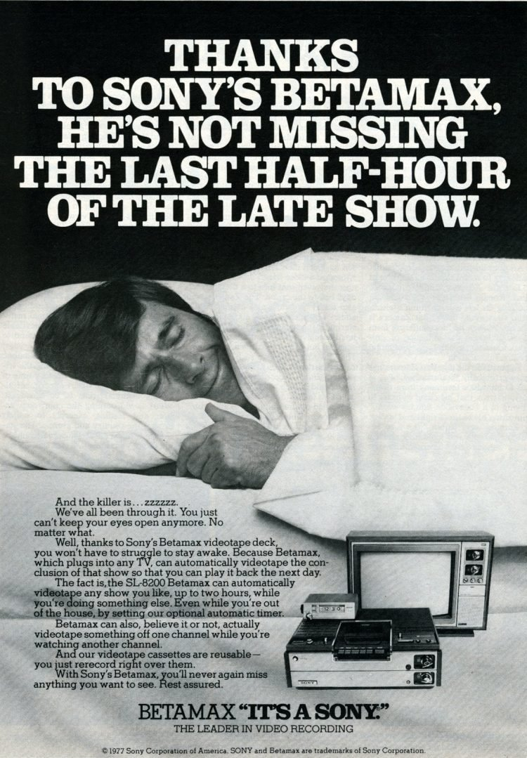 Sony Betamax video recorders - 1977
