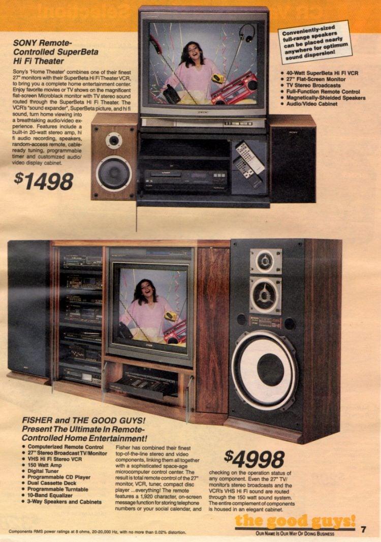 Sony Remote-Controlled SuperBeta Hi-Fi Theater (1987)