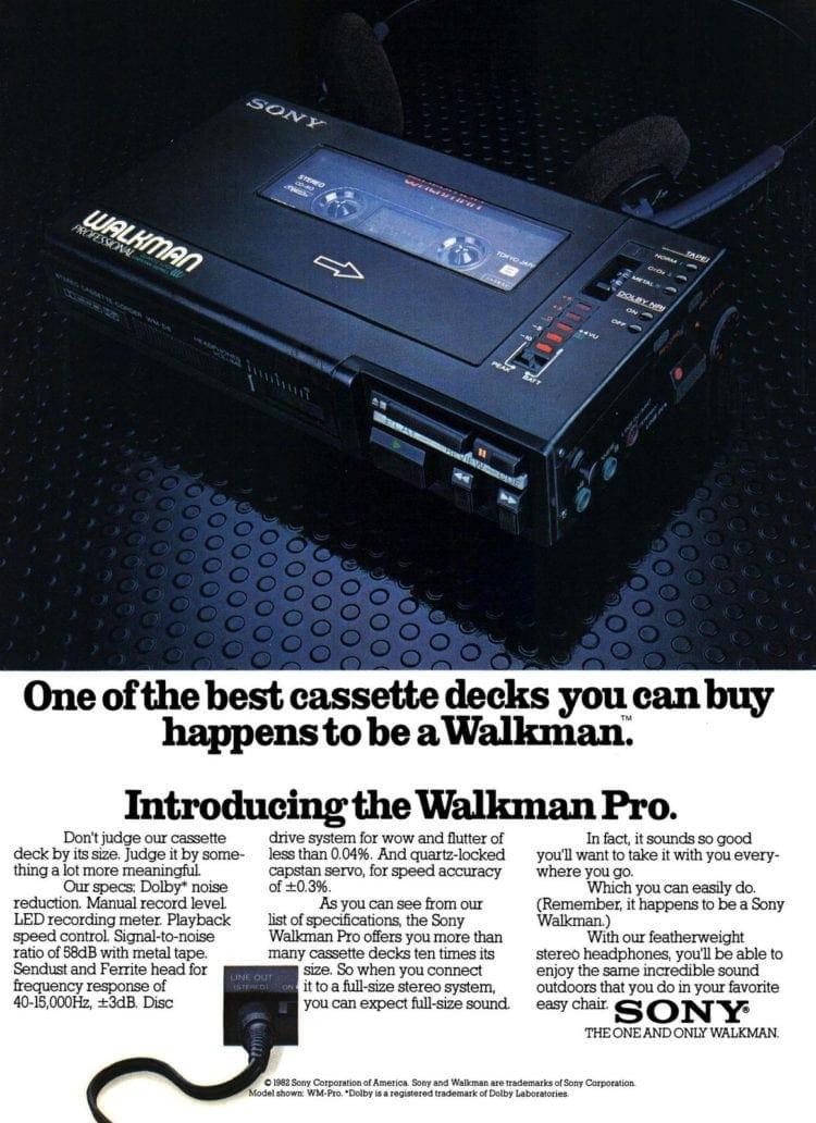 Sony Walkman Pro 1982