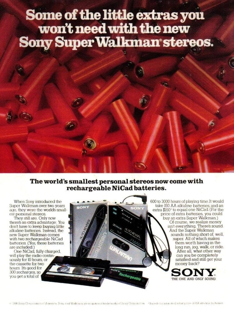 Sony Walkman 1986