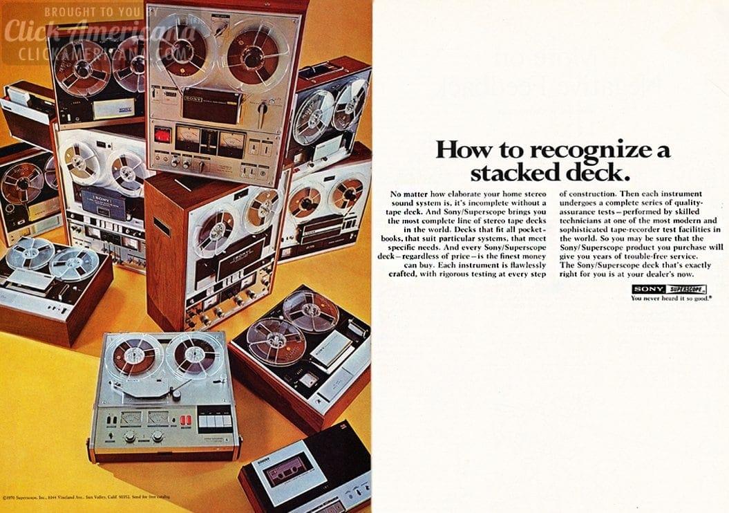 Sony reel to reel tape recorders 1970