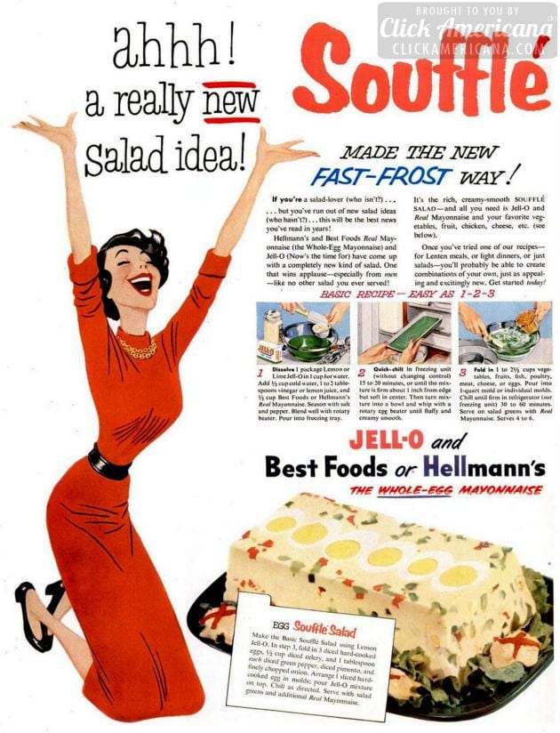 Souffle salad with Jell-O (1953)