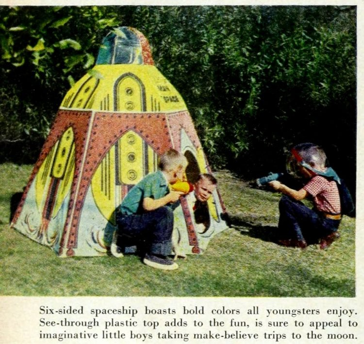 Spaceship fort - playhouse from 1957