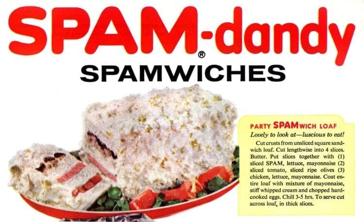 Spam-dandy sandwich loaf