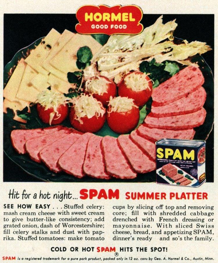 Spam summer platter - 1950