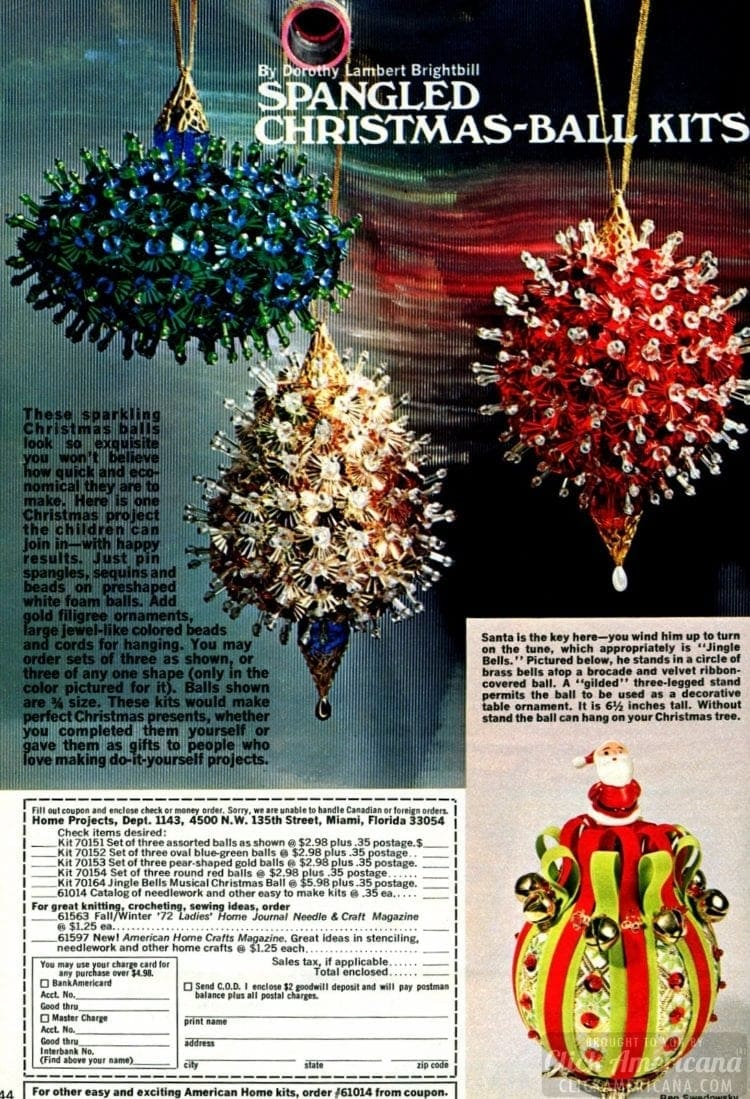 Spangled, sequined Christmas balls you can make