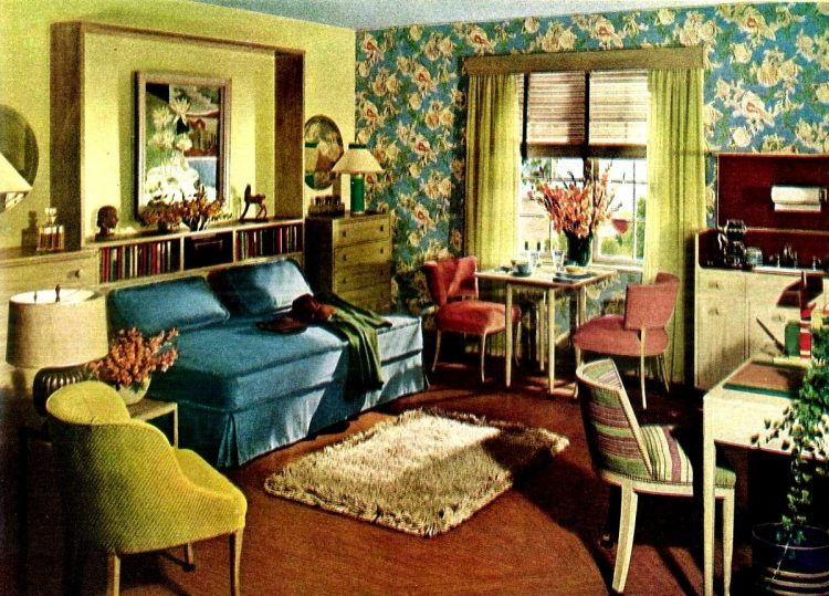 Spare bedroom renovation interior decorating from 1944 - After