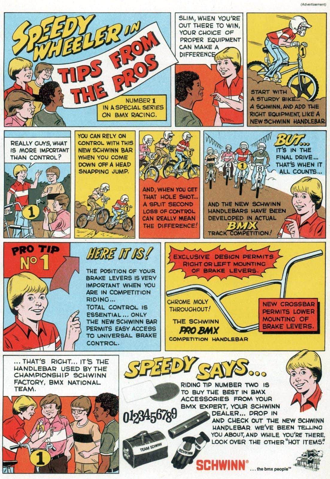 Speedy Wheeler with BMX bike racing tips - Boys' Life Apr 1980