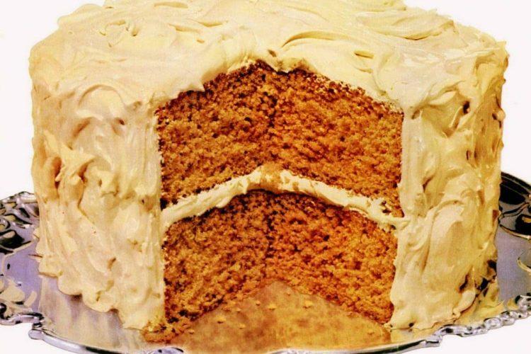 Buttermilk spice cake & Burnt sugar cake recipes (1972)