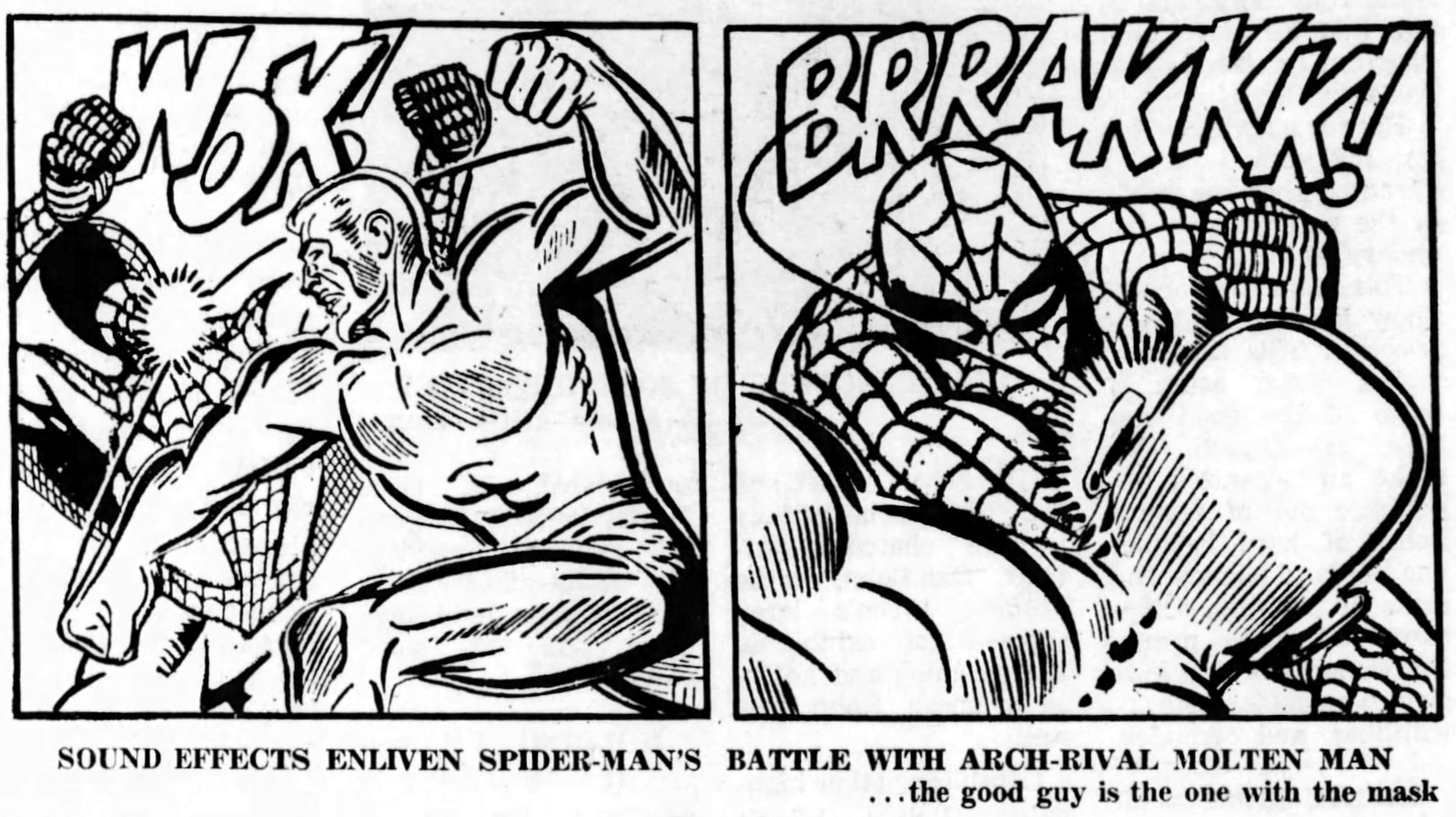 Spider-Man vs Molten Man - 1966 = super heroes