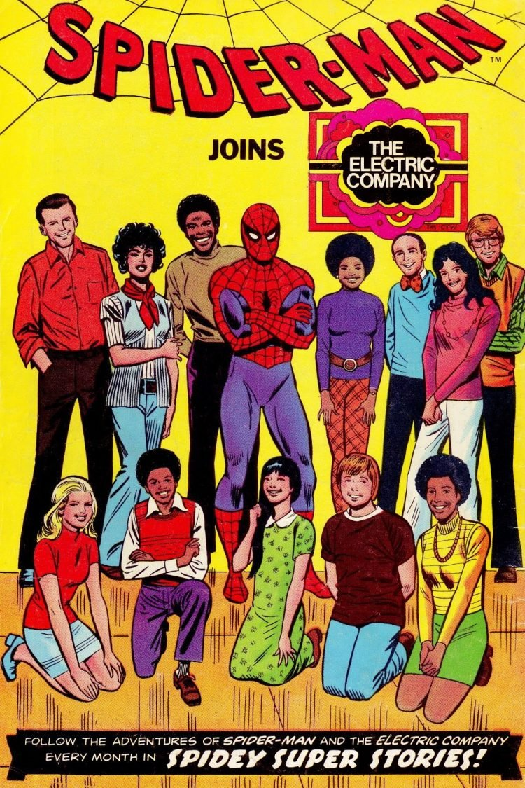 Spiderman meets The Electric Company vintage comic book