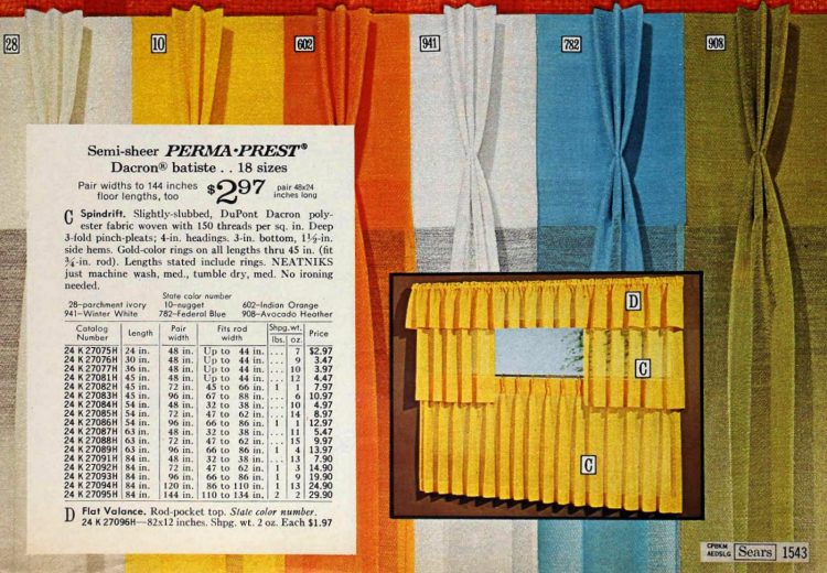 Spindrift short vintage curtains