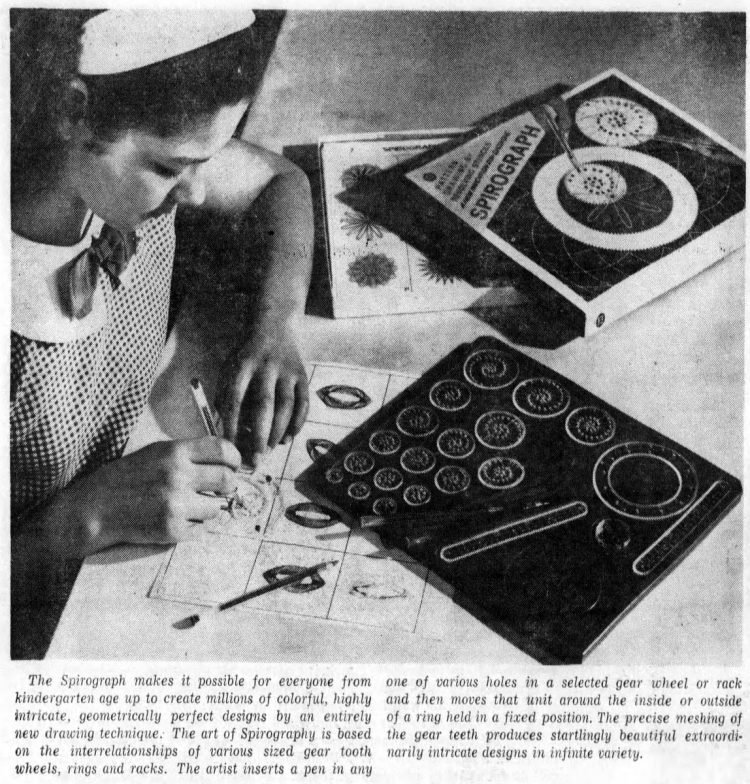 See how vintage Spirograph toys helped everyone draw amazing geometric designs - 1967