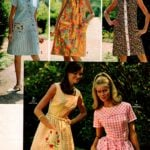 Retro fashions for women - above-the-knee short-sleeve and sleeveless dresses from 1968