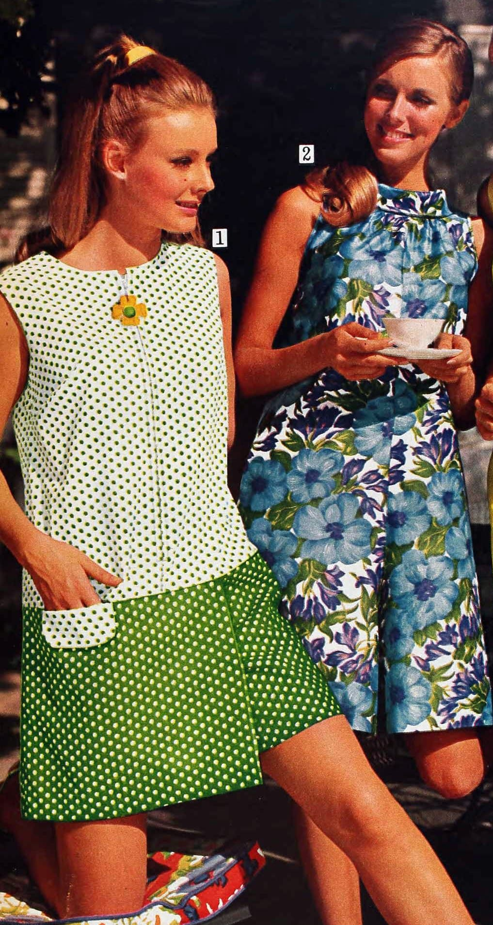 Spring green culottes from 1969