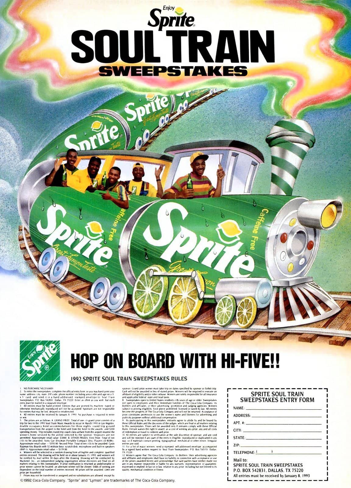 Sprite Soul Train sweepstakes (1992)
