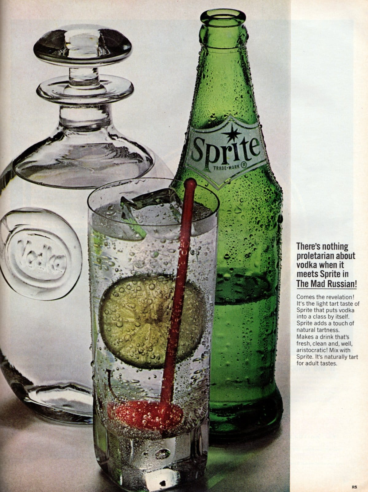 Sprite in a Mad Russian drink (1964)