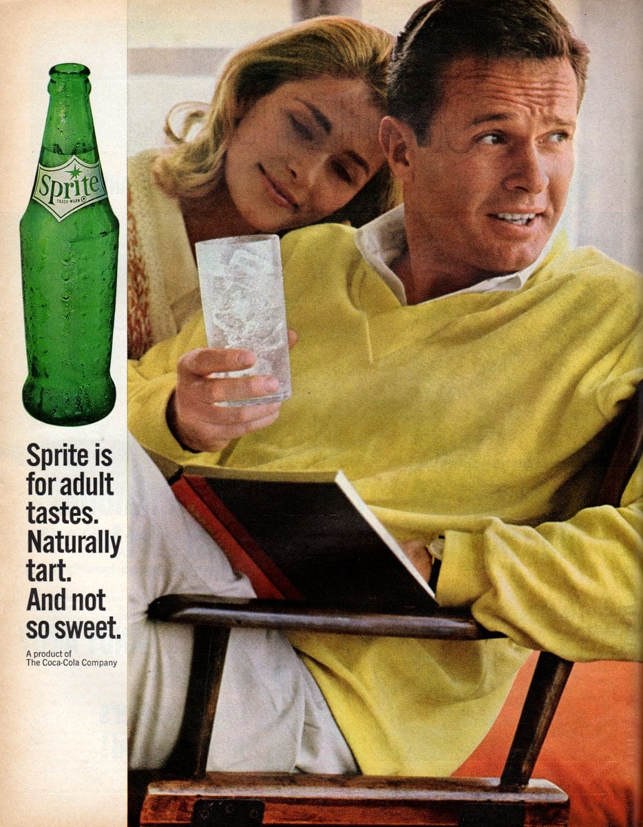 Sprite is for adult tastes (1964)