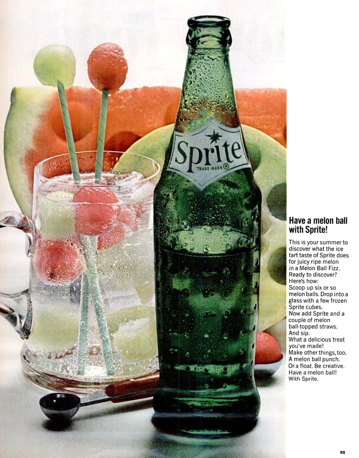 Sprite melon ball punch recipe - Food 1964