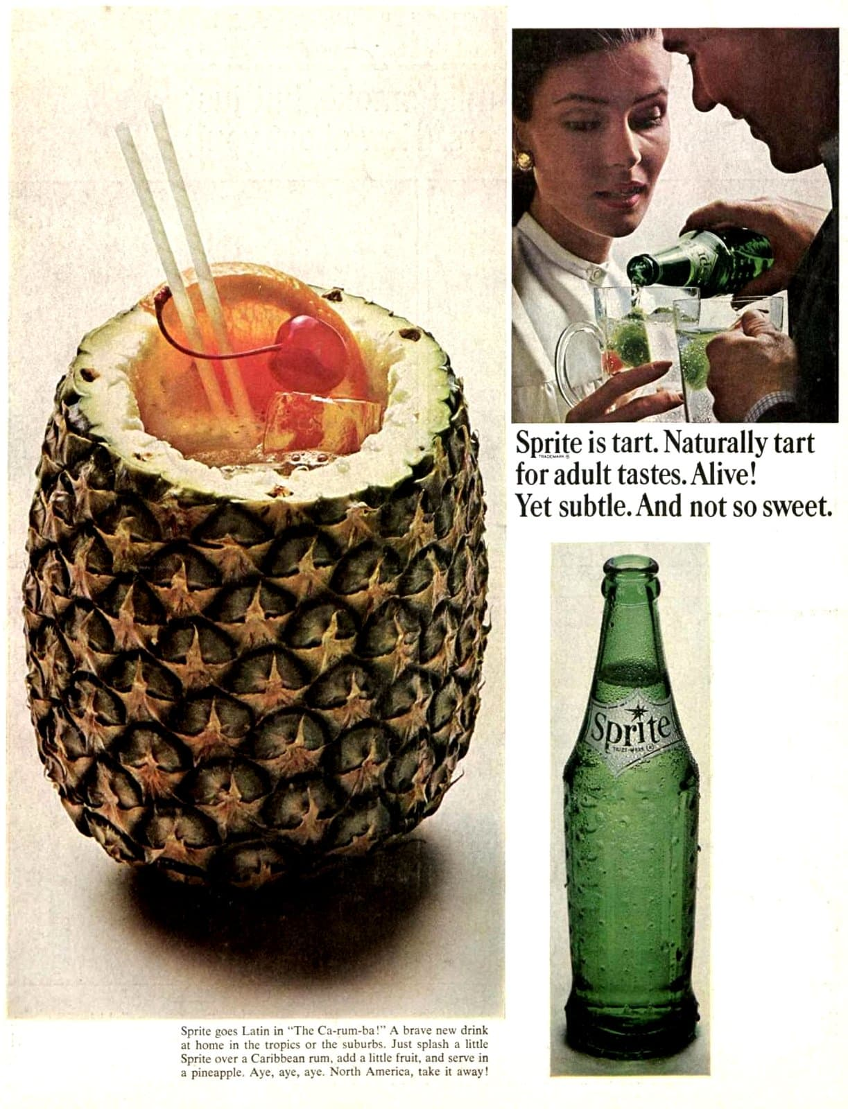 Sprite with rum and pineapple (1965)