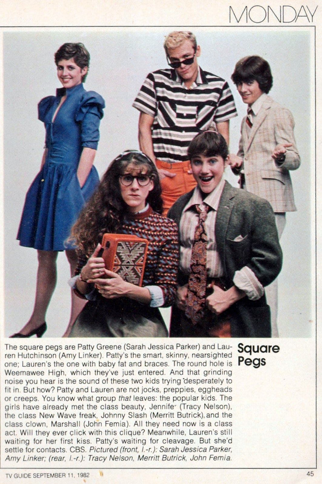 Square Pegs in TV Guide 1982