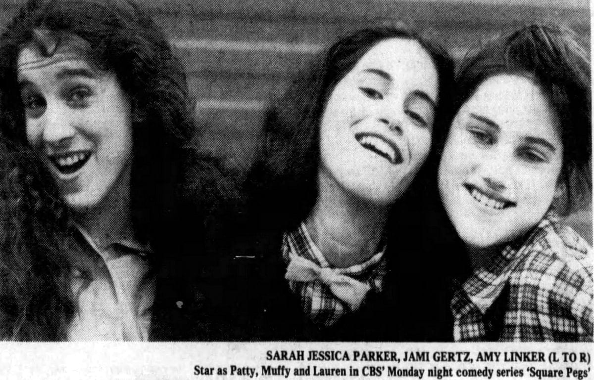 Square Pegs promo 1982 - SJP Jami Gertz Amy Linker - Patty Muffy Lauren