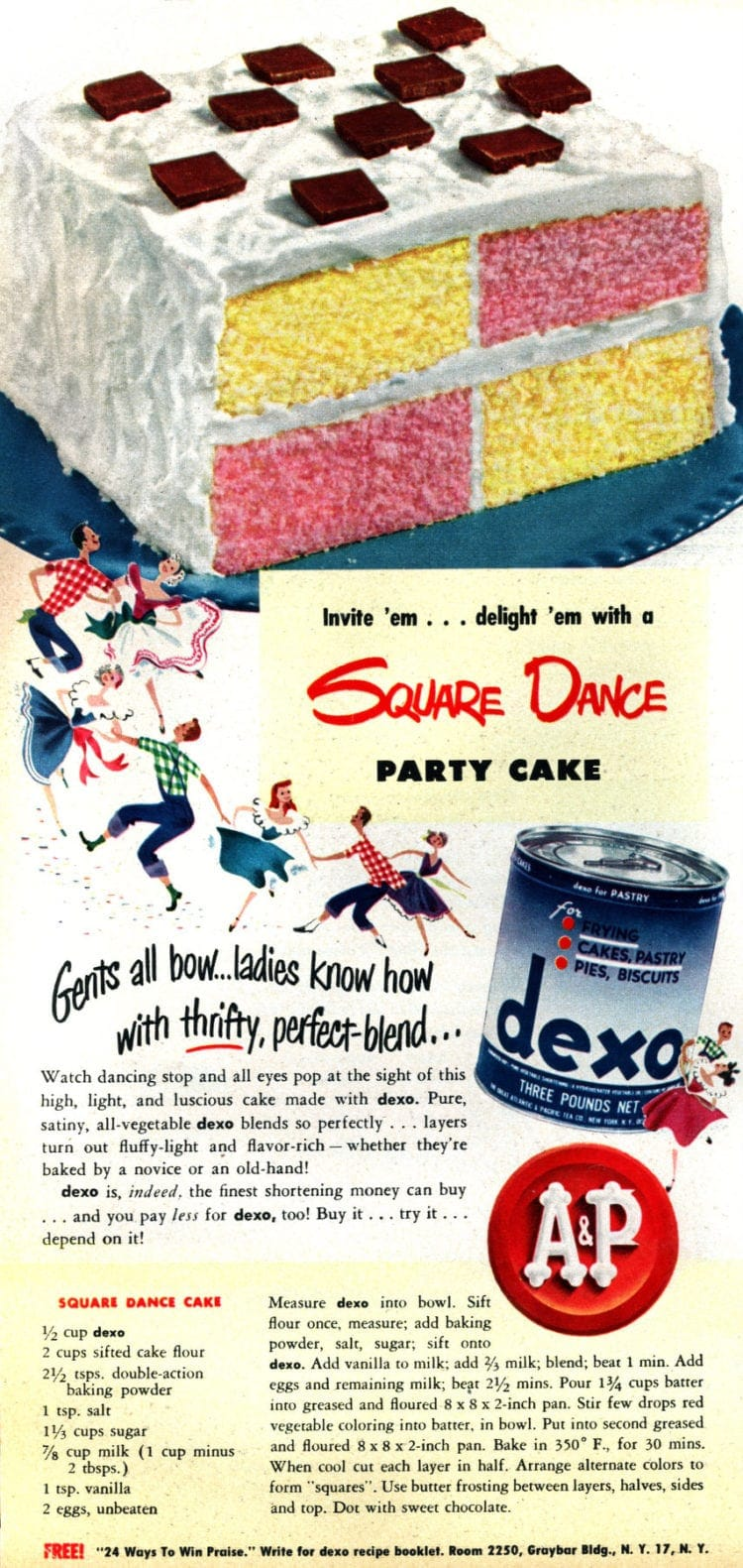Square dance party cake (1950)