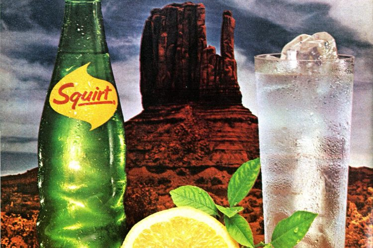 Squirt soda A drink that wasn't 'sweet like other soft drinks' (1962)
