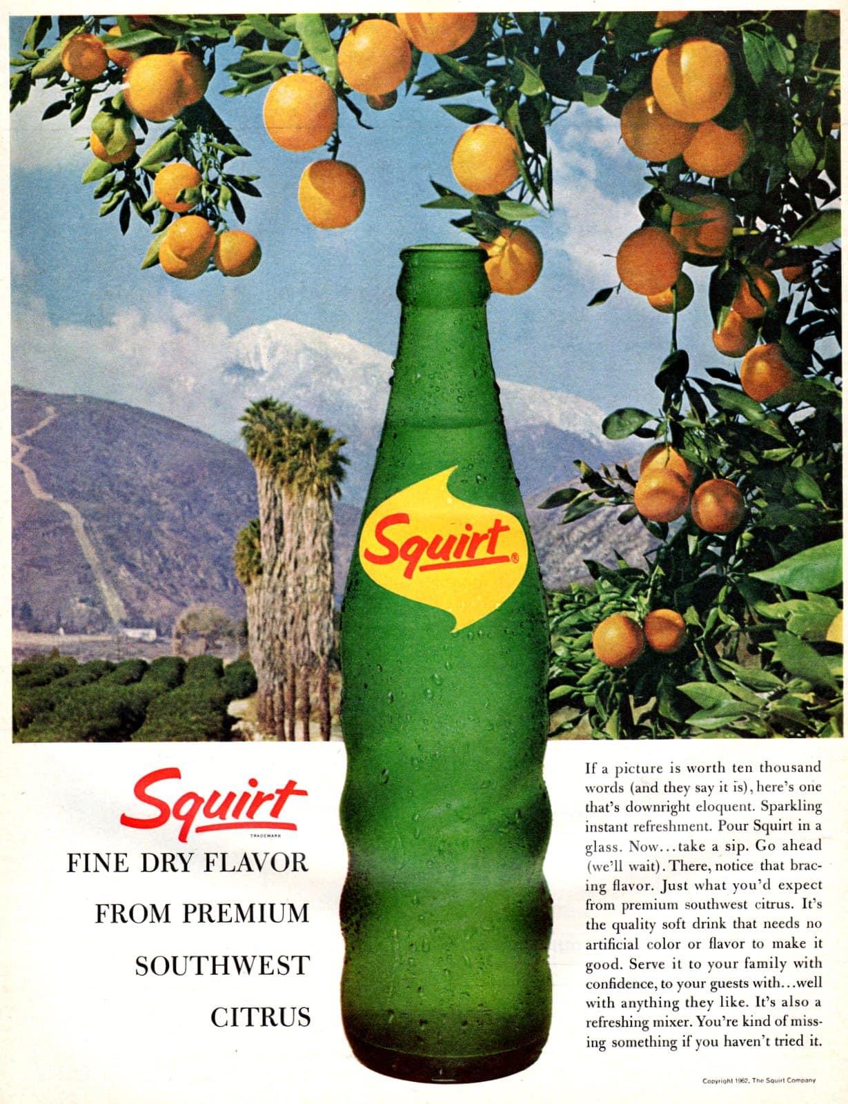 Squirt soda with premium southwest citrus (1965)