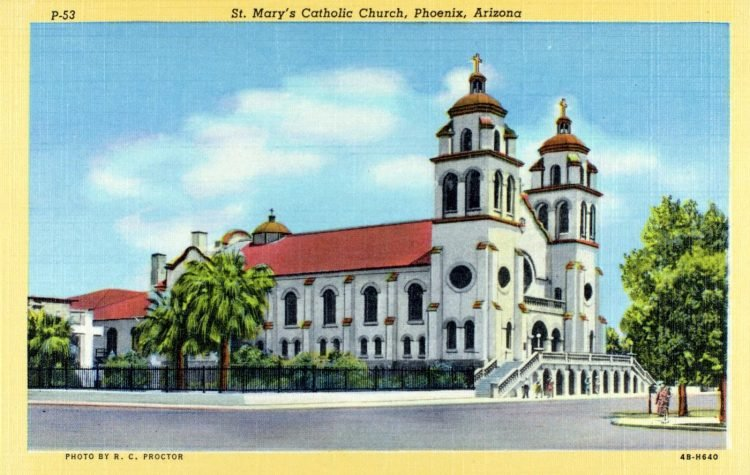 St. Mary's Catholic Church, Phoenix, Arizona - 1940s