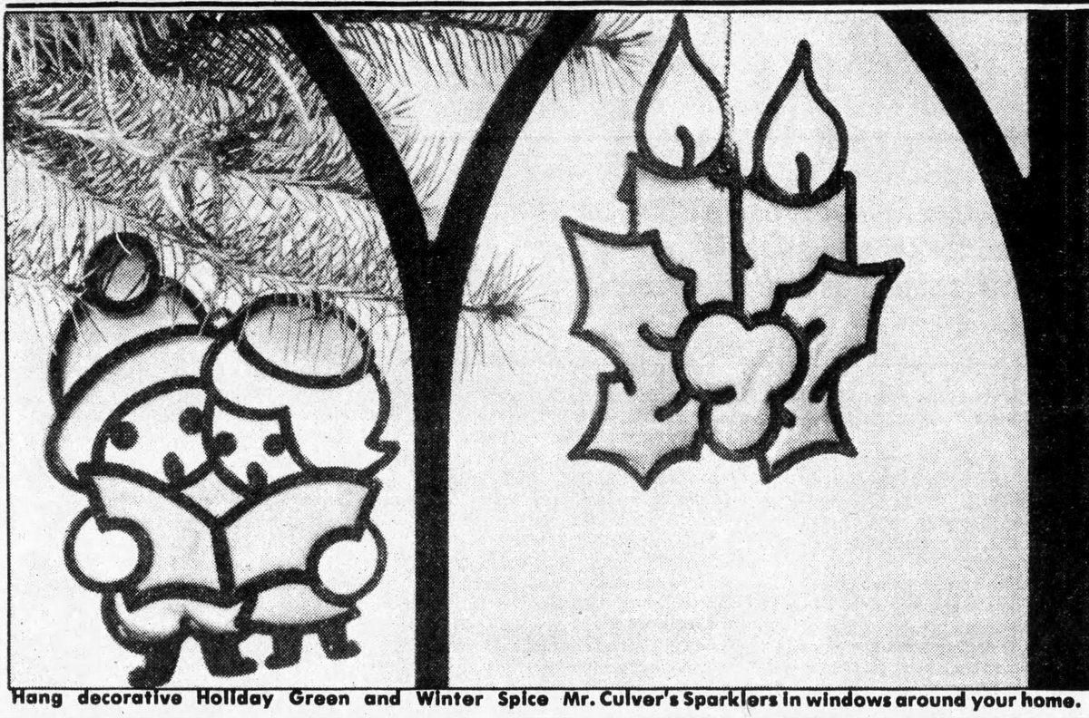 Stained glass air fresheners in Christmas designs (1982)