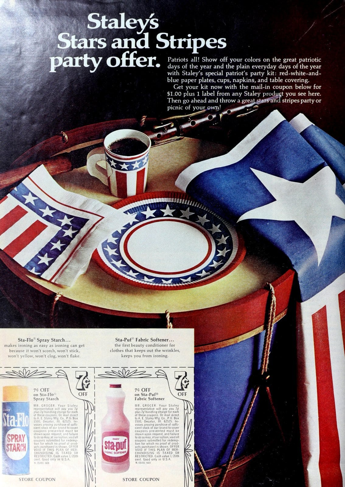 Staley stars and stripes party offer (1969)