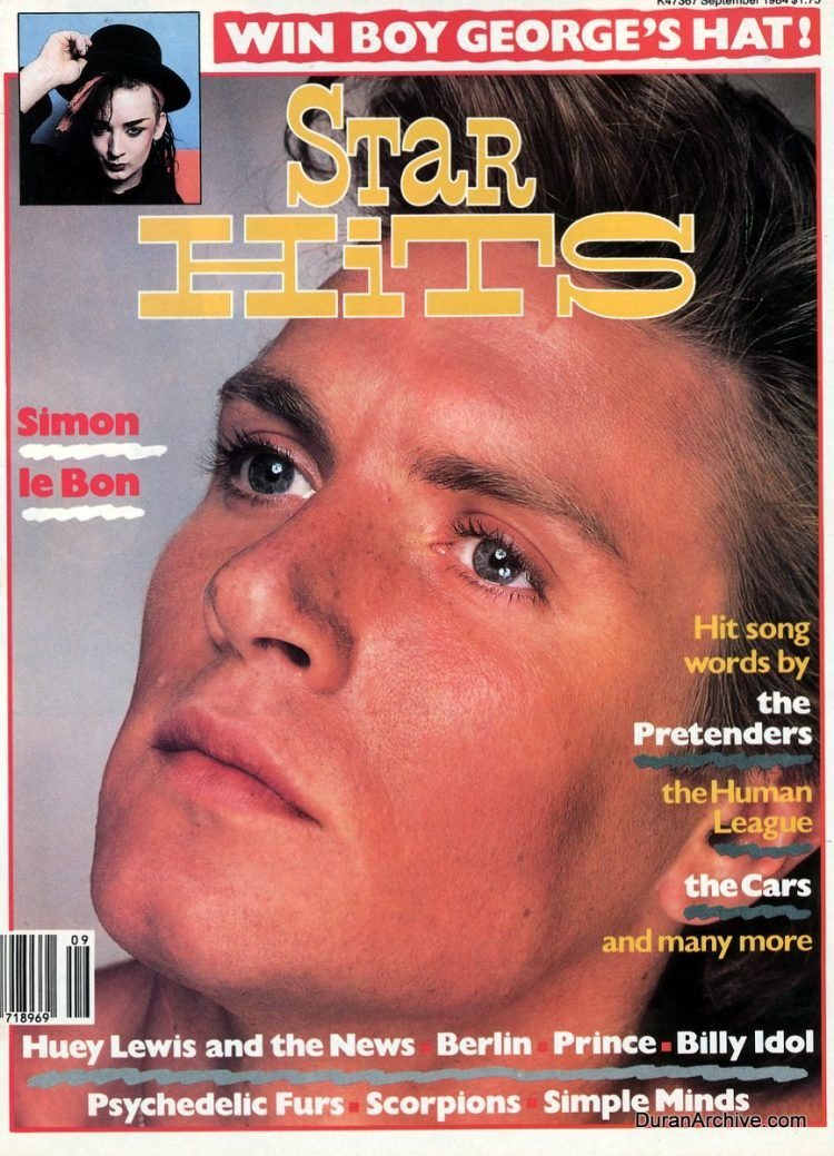 Star Hits September 1984 Simon Le Bon of Duran Duran