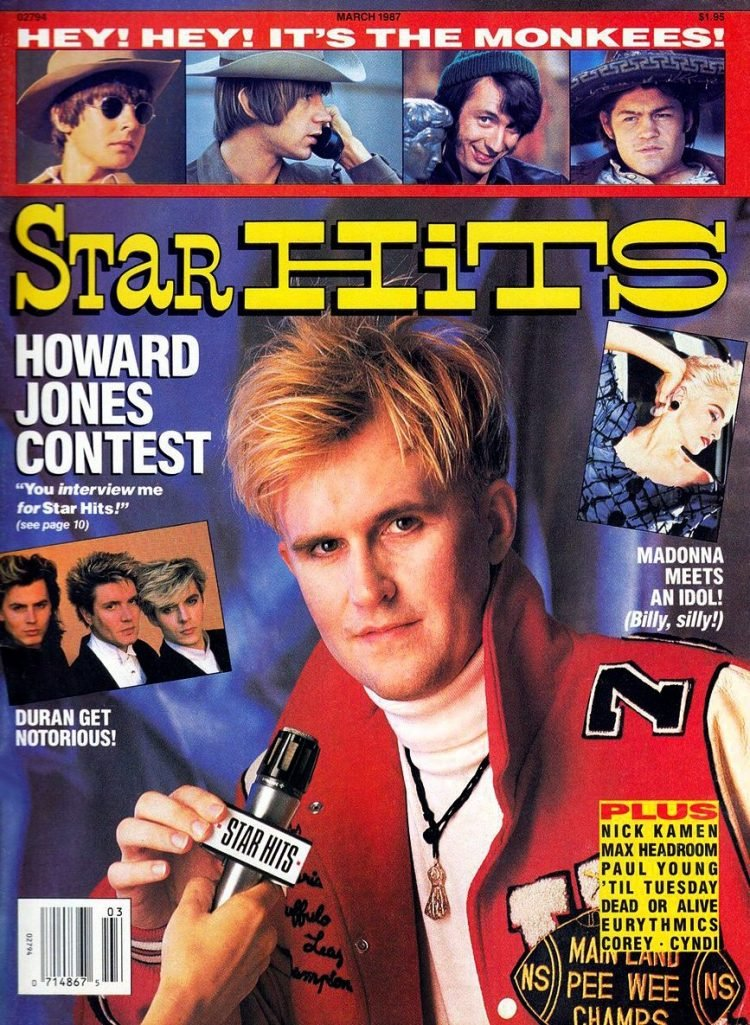 Star Hits cover - Howard Jones 1987