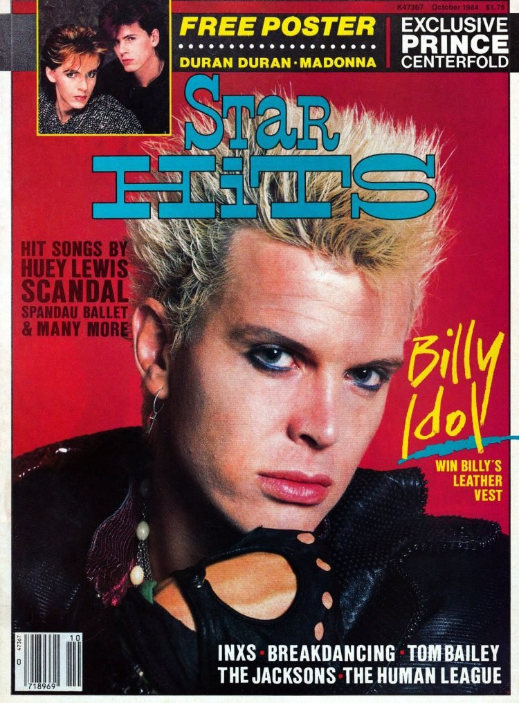 Star Hits magazine cover - 1984 - Billy Idol