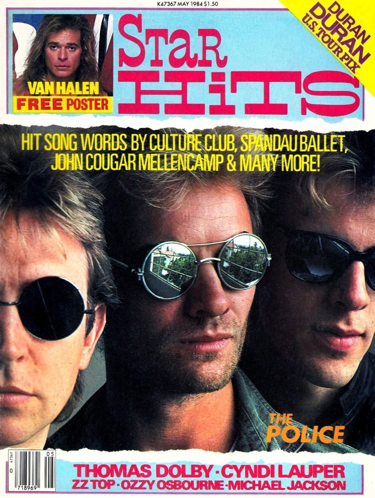 Star Hits magazine cover - 1984 - The Police