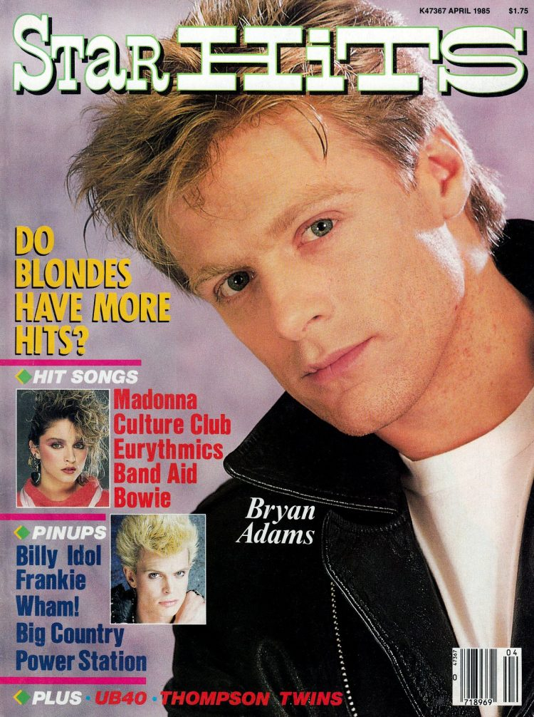 Star Hits magazine cover - 1985 - Bryan Adams