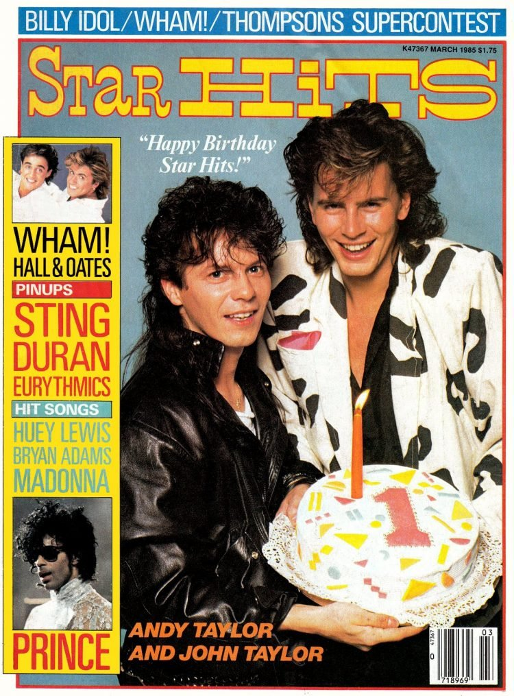 Star Hits magazine cover - 1985 - Power Station Duran