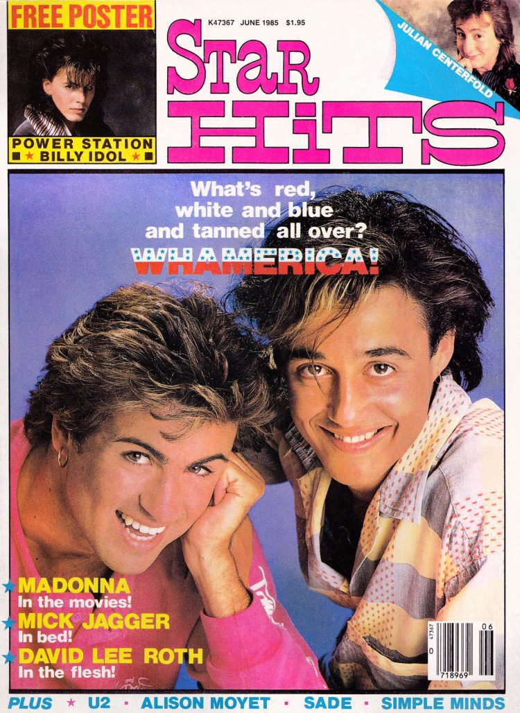 Star Hits magazine cover - 1985 - Wham