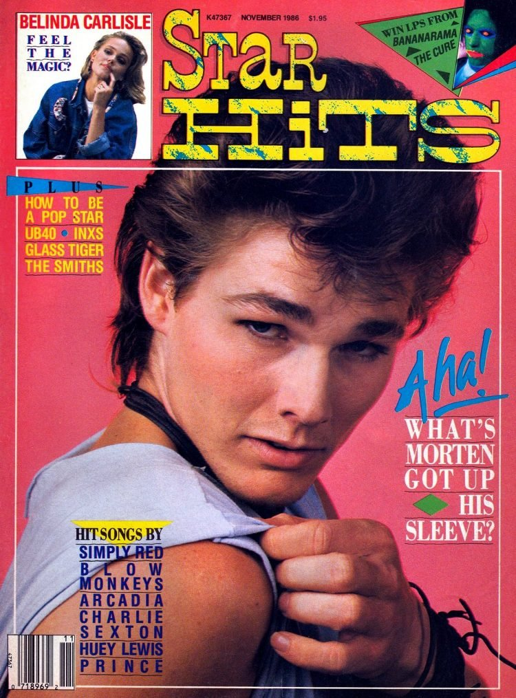 Star Hits magazine cover - 1986 - A-ha