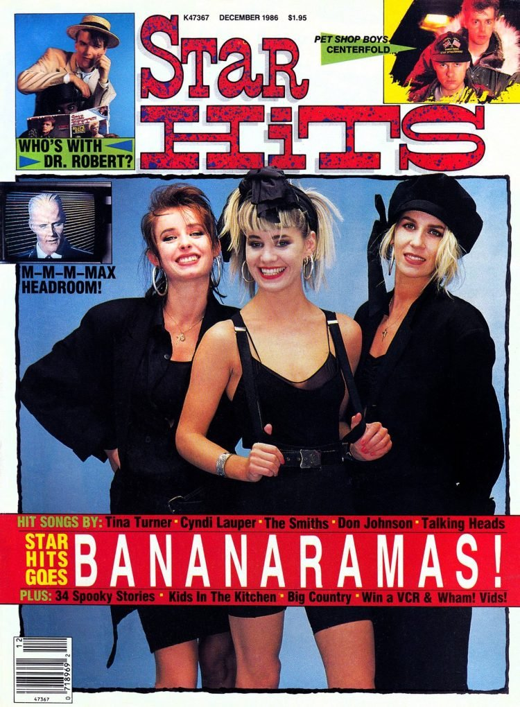 Star Hits magazine cover - 1986 - Bananarama