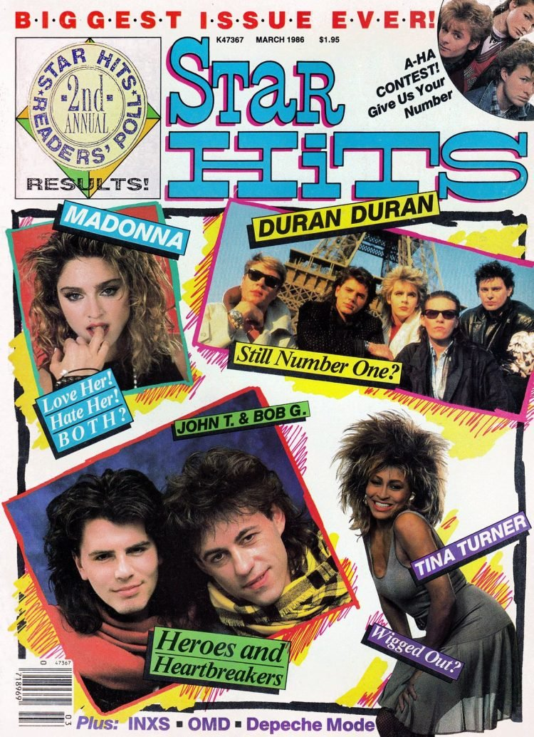 Star Hits magazine cover - 1986 - Reader Poll 2